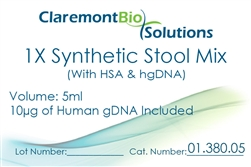 Item #01.380.05 - 5mL Human-based Synthetic Stool Mix (w/ HSA & HgDNA)