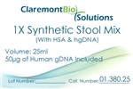 Item #01.380.25 - 25mL Human-based Synthetic Stool Mix (w/ HSA & HgDNA)