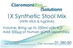 250mL 1X Synthetic Stool Mix with Human Serum Albumin
