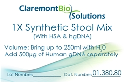 Item# 01.380.80 - 250mL Human-based Synthetic Stool Mix (w/ HSA & HgDNA)